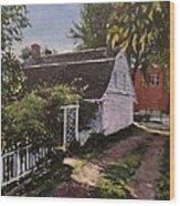 Onderdonk House  Garden Wood Print
