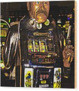 One Arm Bandit Slot Machine 20130308 Wood Print
