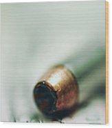 One Bullet Left Wood Print