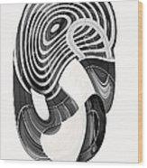 One Clean Print - Greyscale  Wood Print