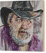 One Eyed Cowboy  Wood Print