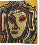 One Eyed Mystery Women Wood Print
