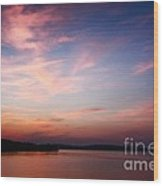 One Fine Sunset Wood Print