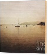 One Foggy Morning Wood Print