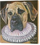 One Formal Pooch Wood Print by Susan A Becker