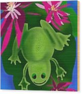 One Frogs Dinner Wood Print