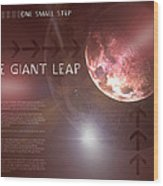 One Giant Leap Wood Print