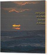 One Golden Thread Wood Print