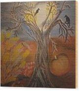 One Hallowed Eve Wood Print