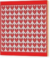 One Hundred Hearts Wood Print