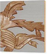 One Hungry Fish Wood Print