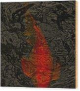 One Koi Wood Print