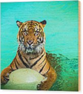 One Kool Cat Wood Print