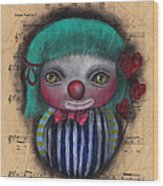 One Love Clown Wood Print