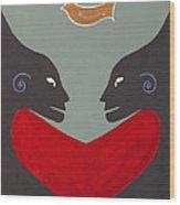 One Love One Heart Wood Print