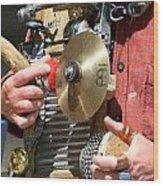 One Man Band Wood Print