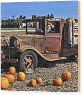 One More Pumpkin Wood Print