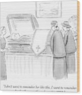 One Mourning Woman At A Funeral Comments Wood Print