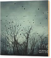 One November Night Wood Print by Sharon Coty