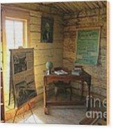 One Room School Wood Print