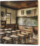 One Room School Wood Print