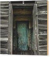 One Room Schoolhouse Door - Damascus - Pennsylvania Wood Print