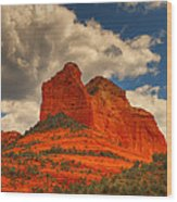 One Sedona Sunset Wood Print