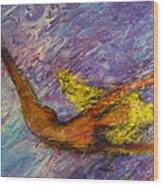 One Series 12 - Mermaid Blues Wood Print