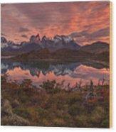 One Short Sunrise Wood Print