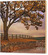 One Tree Hill Wood Print by Lois Bryan