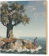 One Tree Island Wood Print