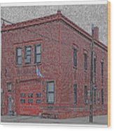 One Truck Fire Station Wood Print