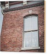 One Window In Color Wood Print