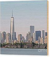 One World Trade Center And Ellis Island 2 Wood Print