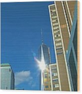One World Trade Center Wood Print by Dan Sproul