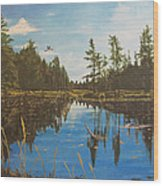 O'neal Lake Wood Print
