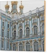 Onion Domes - Katharinen Palace - Russia Wood Print