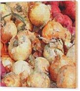 Onions Closeup Wood Print