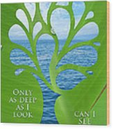 Only As Deep As I Look Can I See Wood Print by Nikki Smith