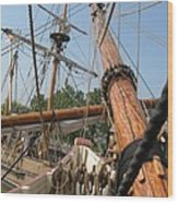 Only Masts Wood Print