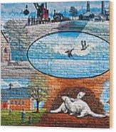 Ontario Heritage Mural Wood Print