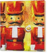Onward Toy Soldiers Wood Print