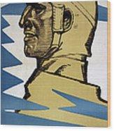 Onwards Upper Bavarian Aviation Fund Wood Print by Fritz Erler