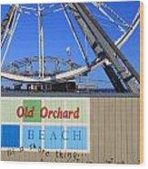 Oob- Its A Shore Wheel Wood Print