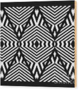 Op Art Black White Pattern Print No.336. Wood Print by Drinka Mercep