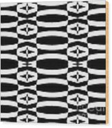 Op Art Geometric Black White Pattern Abstract No.290. Wood Print