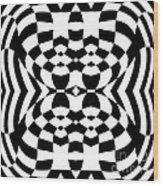 Op Art Geometric Pattern Black White Print No.230. Wood Print