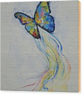 Opal Butterfly Wood Print by Michael Creese