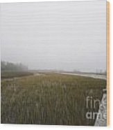 Opaque Foggy Morning Wood Print