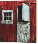 Open Barn Door Wood Print
